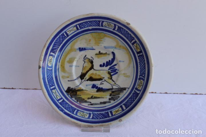 Antigüedades: CUATRO PEQUEÑOS PLATOS DE CERAMICA DE TRIANA - Foto 2 - 267543674