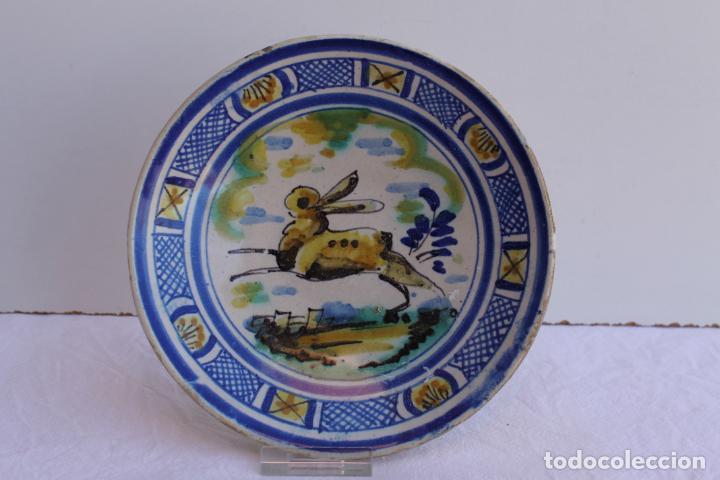 Antigüedades: CUATRO PEQUEÑOS PLATOS DE CERAMICA DE TRIANA - Foto 4 - 267543674