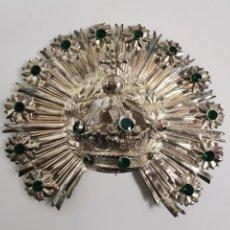 Antiguidades: CORONA IMPERIAL CON RESPLANDOR PARA IMAGEN RELIGIOSA . PLATA CON CABUJONES FACETADOS EN STRASS.S.XIX. Lote 267577999