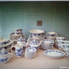 """Antigüedades: VAJILLA SAN CLAUDIO """"PRINCIPADO"""" BLUEBOUQUET. Lote 267594209"""