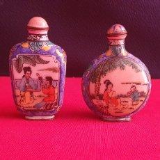 Antiquités: ANTIGUO PERFUMEROS CLOISSONES CON ESCENAS CHINA. Lote 267632304