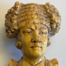 Antigüedades: MAGNIFICO BASTÓN CABEZA TORERO MARFIL (S.XIX). Lote 267639629