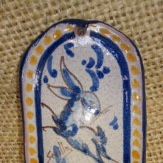 Antigüedades: BENDITERA 16'5X8 FIRMADA. Lote 267639794