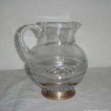 Antigüedades: JARRA DE CRISTAL DE BACCARAT Y PLATA (CON CONTRASTES). Lote 267644549