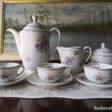 Antigüedades: JUEGO CAFE PORCELANA SANTA CLARA. Lote 267670539