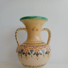 Antiquités: JARRÓN GRANDE DE LOZA ( 27 CM.). PUENTE DEL ARZOBISPO. GMF.. Lote 267736104