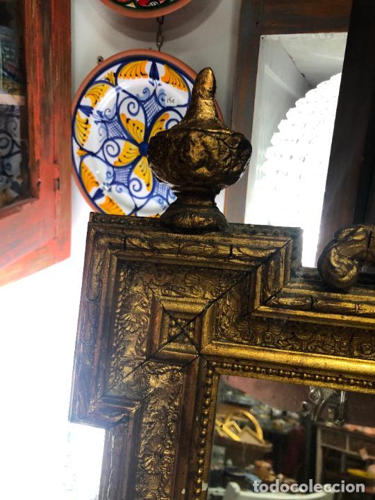 Antigüedades: ANTIGUO ESPEJO CORNUCOPIA EN MADERA Y DORADO - MEDIDA 88X63 CM - Foto 3 - 267741919