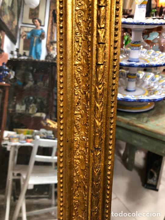 Antigüedades: ANTIGUO ESPEJO CORNUCOPIA EN MADERA Y DORADO - MEDIDA 88X63 CM - Foto 5 - 267741919