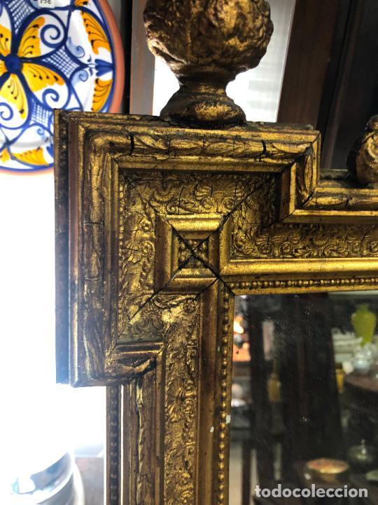 Antigüedades: ANTIGUO ESPEJO CORNUCOPIA EN MADERA Y DORADO - MEDIDA 88X63 CM - Foto 10 - 267741919