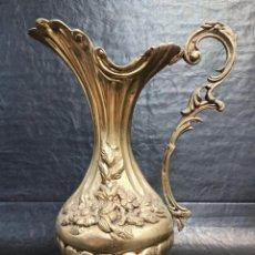 Antigüedades: ELEGANTE JARRA DE BRONCE CON MOTIVOS FLORALES. A2. Lote 267747059