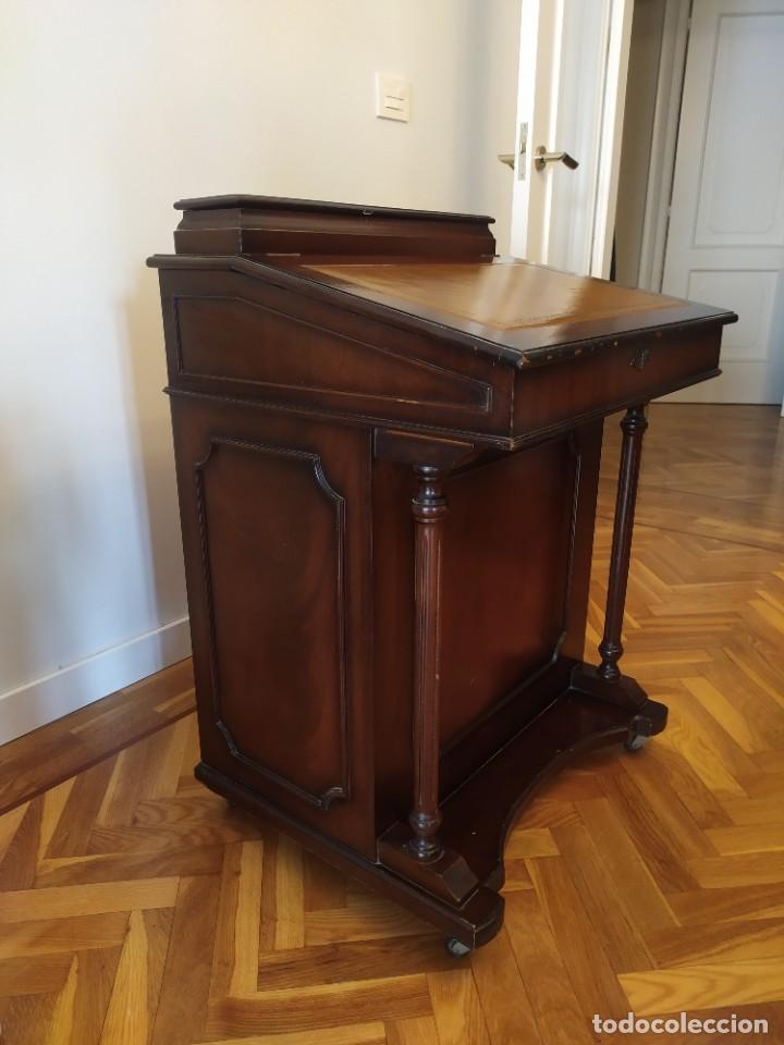 Antigüedades: Mueble Escritorio Inglés Davenport Siglo XIX - Foto 2 - 267749014