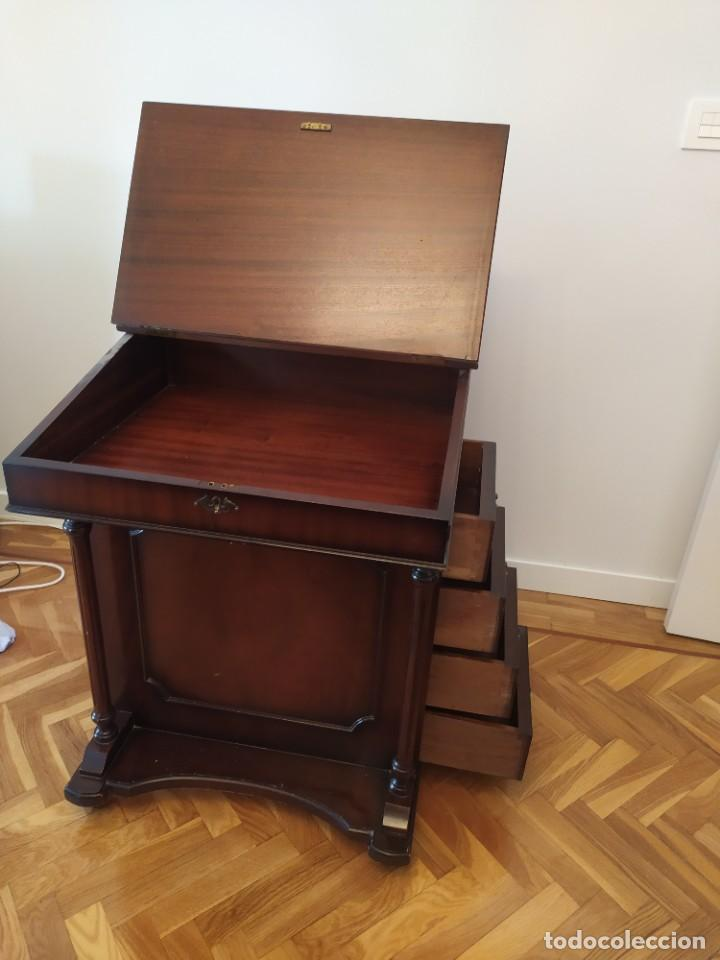 Antigüedades: Mueble Escritorio Inglés Davenport Siglo XIX - Foto 5 - 267749014