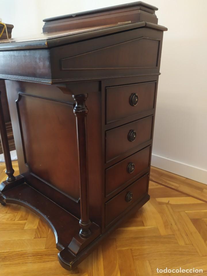 Antigüedades: Mueble Escritorio Inglés Davenport Siglo XIX - Foto 6 - 267749014