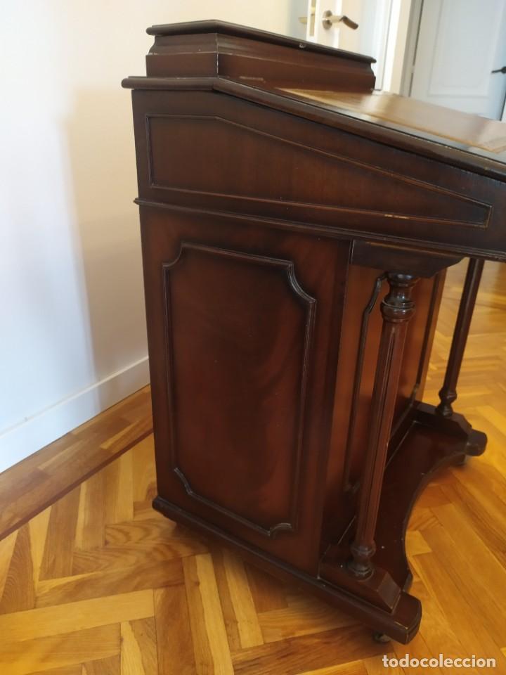 Antigüedades: Mueble Escritorio Inglés Davenport Siglo XIX - Foto 7 - 267749014