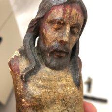 Antigüedades: CRISTO CRUCIFICADO EN TALLA MADERA 41 CM. FINALES SIGLO IX PRINCIPIOS SIGLO XX. Lote 267754174