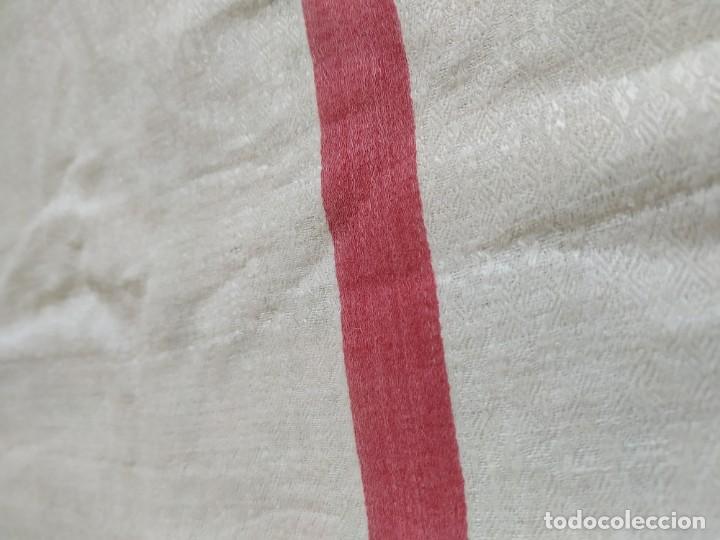 Antigüedades: Lote 4 antiguos paños de cocina toallas. Hilo. Iniciales bordadas. Diferentes tamaños - Foto 7 - 267757379