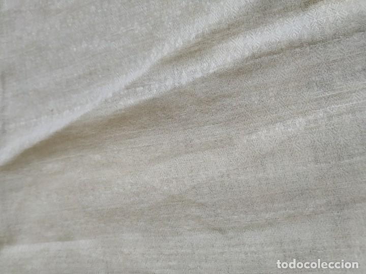 Antigüedades: Lote 4 antiguos paños de cocina toallas. Hilo. Iniciales bordadas. Diferentes tamaños - Foto 9 - 267757379