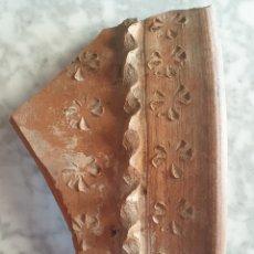 Antigüedades: FRAGMENTO TROZO TINAJA COCIO CERÁMICA ANTIGUA CATALANA SALE ZONA BALAGUER 1,5 KILOS. OS DE BALAGUER. Lote 267761594