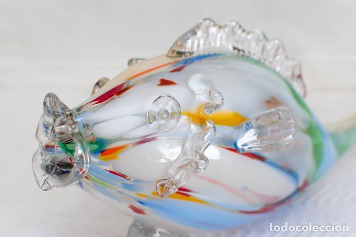 Antigüedades: Precioso pez cristal soplado Murano vintage. - Foto 2 - 267791534