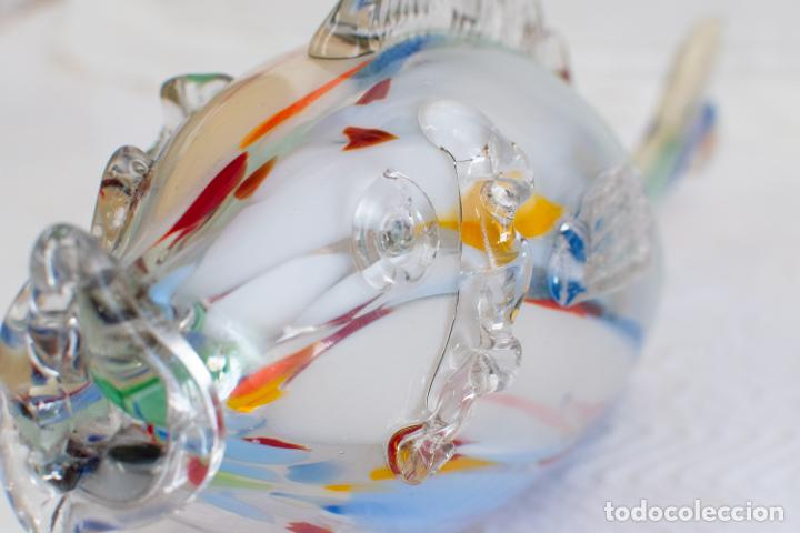 Antigüedades: Precioso pez cristal soplado Murano vintage. - Foto 3 - 267791534