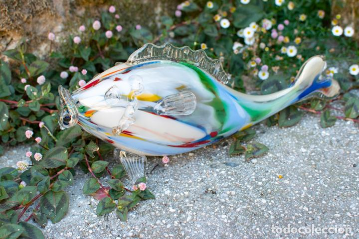 Antigüedades: Precioso pez cristal soplado Murano vintage. - Foto 5 - 267791534
