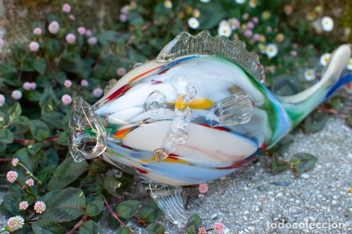 Antigüedades: Precioso pez cristal soplado Murano vintage. - Foto 6 - 267791534