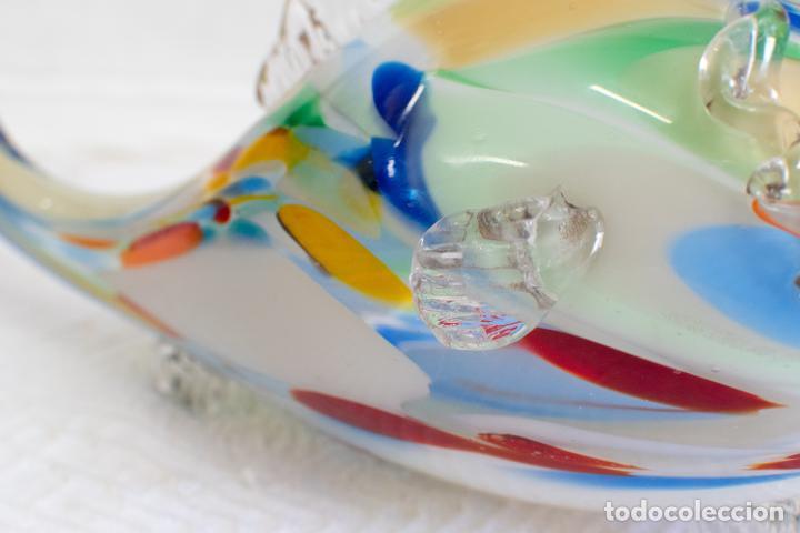 Antigüedades: Precioso pez cristal soplado Murano vintage. - Foto 7 - 267791534