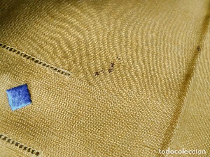 Antigüedades: Precioso mantel antiguo con vainicas y bordados. 6 servilletas. 110 x 108 cm. - Foto 12 - 267816249