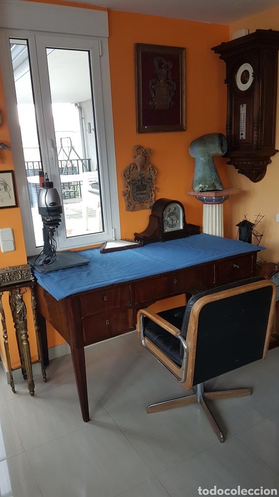 Antigüedades: MESA DE DESPACHO DE CAOBA CUBANA FINALES XIX - Foto 13 - 267827344