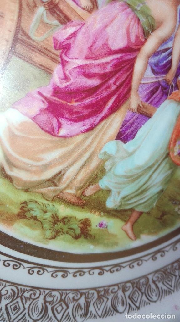 Antigüedades: PRECIOSA PAREJA DE PLATOS DE PORCELANA DE SANTA CLARA CON ESCENAS MITOLÓGICAS - Foto 14 - 267850399