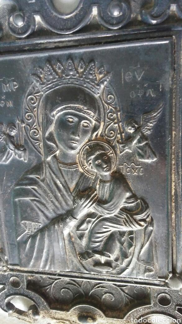 Antigüedades: Benditera antigua en estaño - para arreglar - Foto 2 - 267869099