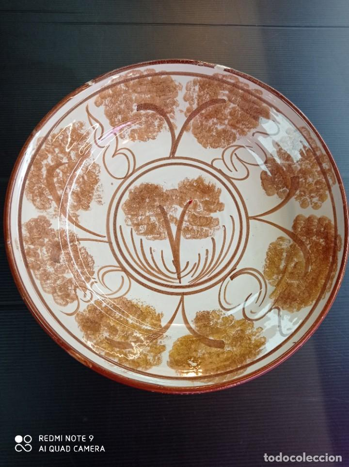 RIBESALBES ANTIGUO PLATO PERFECTO ESTADO 29 CM DE DIÁMETRO (Antigüedades - Porcelanas y Cerámicas - Ribesalbes)