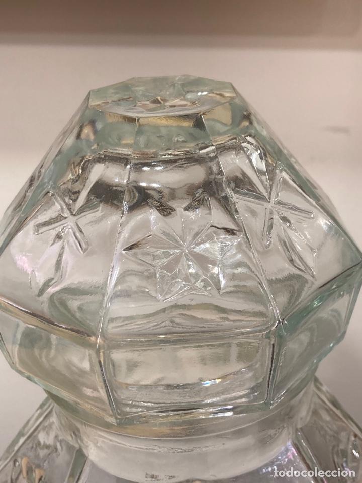Antigüedades: Precioso bote antiguo de cristal de farmacia - Foto 4 - 267895669