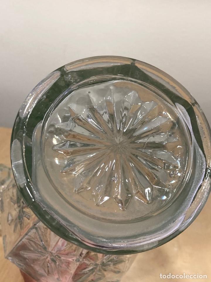 Antigüedades: Precioso bote antiguo de cristal de farmacia - Foto 7 - 267895669