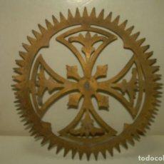 Antigüedades: ANTIGUA CORONA DE LATON PARA IMAGEN RELIGIOSA.. Lote 268025934