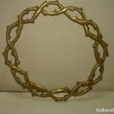 Antigüedades: ANTIGUA CORONA DE BRONCE...MUY ROBUSTA... PARA IMAGEN RELIGIOSA.. Lote 268026039