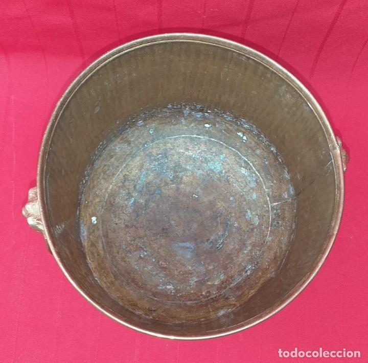 Antigüedades: MACETERO DE LATÓN - Foto 5 - 268035739