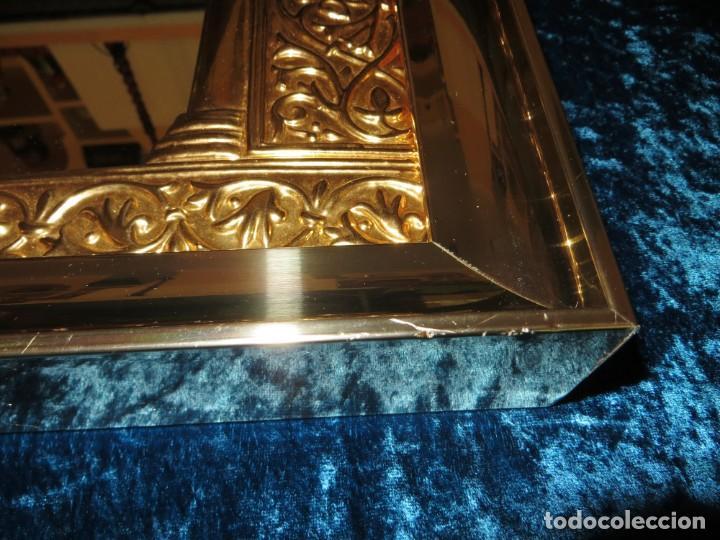 Antigüedades: Antiguo espejo árabe arcos trébol trilobulado dorado metal repujado Mezquita Córdoba - Foto 41 - 268040494