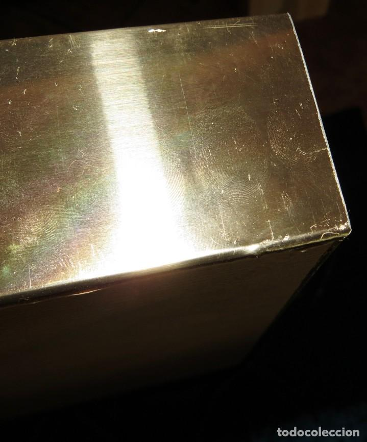 Antigüedades: Antiguo espejo árabe arcos trébol trilobulado dorado metal repujado Mezquita Córdoba - Foto 65 - 268040494