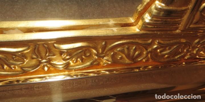 Antigüedades: Antiguo espejo árabe arcos trébol trilobulado dorado metal repujado Mezquita Córdoba - Foto 71 - 268040494