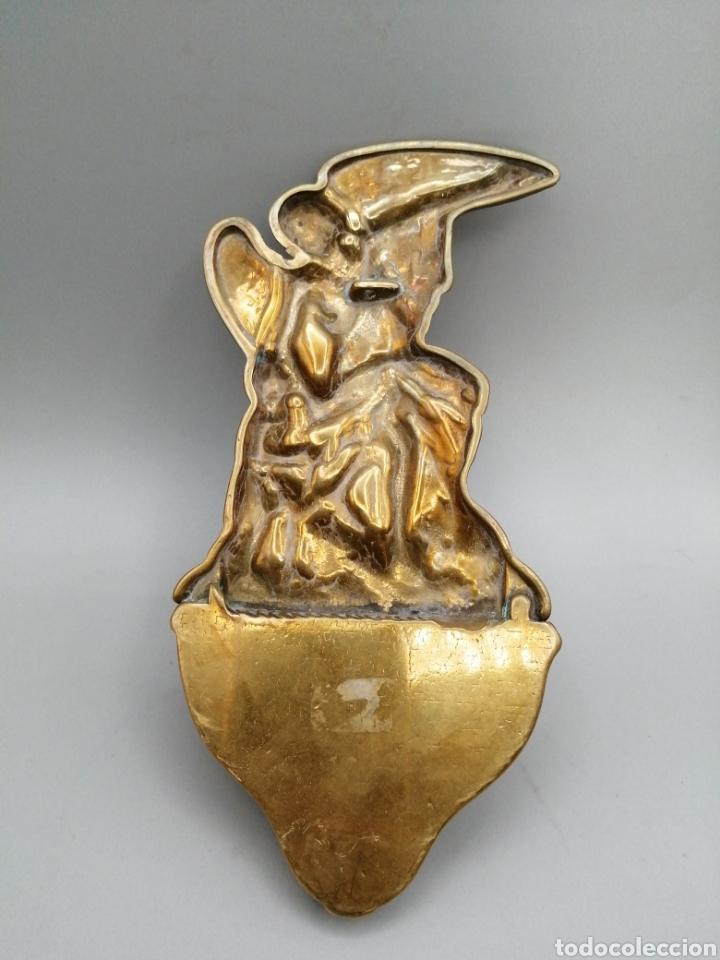Antigüedades: Benditera bronce dorado - Foto 5 - 268120069