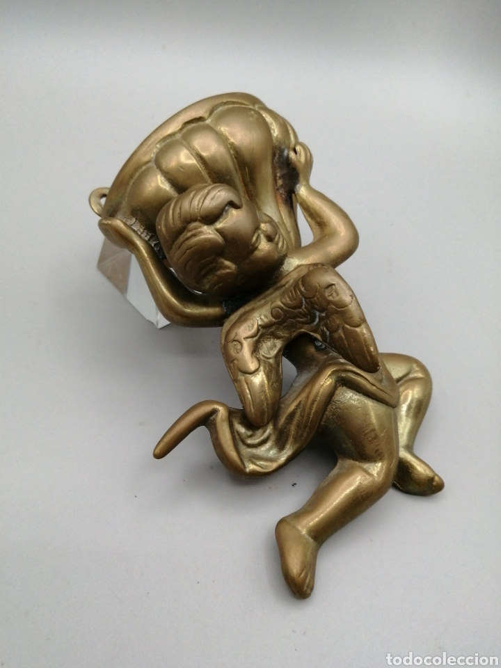 Antigüedades: Benditera bronce dorado - Foto 2 - 268120649