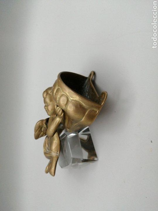 Antigüedades: Benditera bronce dorado - Foto 3 - 268120649