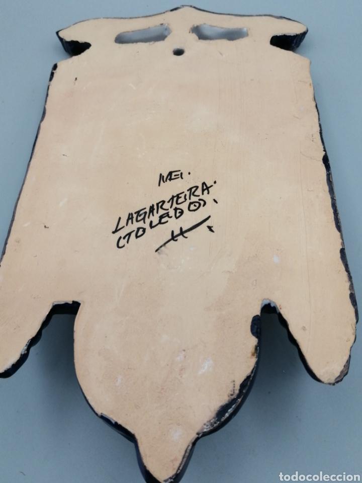 Antigüedades: Benditera cerámica esmaltada Toledo - Foto 4 - 268127224