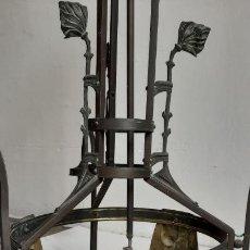 Antigüedades: ANTIGUA LAMPARA MODERNISTA , ORIGINAL DE FINALES DEL SIGLO XIX - 4 LUCES. Lote 268154844