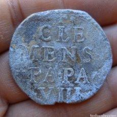 Antiguidades: ANTIGUO SELLO CUÑO DE PLOMO DE EJECUTORIA O BULA PAPAL CLEMENTE VIII SIGLO XVI. Lote 268159549