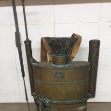 Oggetti Antichi: SULFATADORA EN COBRE MARCA SUPER JAFO. Lote 289342703