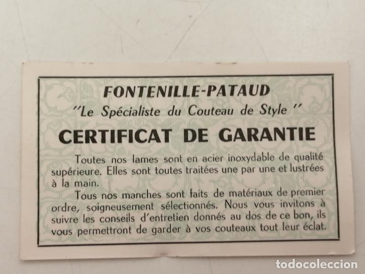 Antigüedades: PAREJA CUCHILLOS MANTEQUILLA / PATE, (TARTINEURS COTEAU), EBANO Y MARFIL, ESTUCHE Y CERTIFICADO - Foto 8 - 268283129