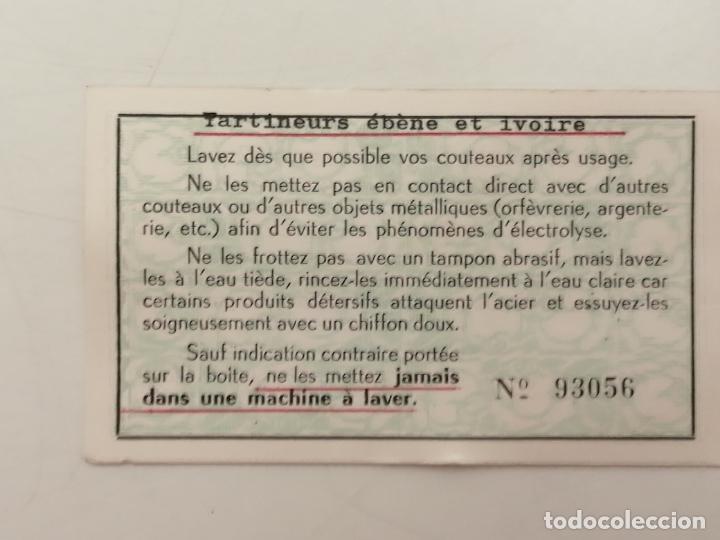 Antigüedades: PAREJA CUCHILLOS MANTEQUILLA / PATE, (TARTINEURS COTEAU), EBANO Y MARFIL, ESTUCHE Y CERTIFICADO - Foto 9 - 268283129