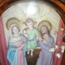 Antigüedades: CAPILLA PORTATIL SAGRADA FAMILIA BISCUIT. Lote 268291434